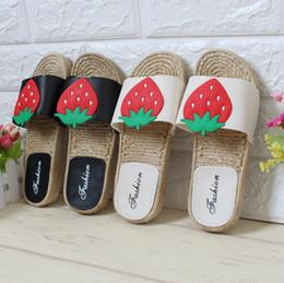 142e68b6ed33e6 Slippers Fruits NZ - 2018 New Summer Women Slippers Straw Braided Flat  Sandals Home Slippers Fruit