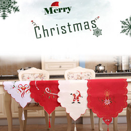 christmas table cloth runner NZ - Christmas Dining Table Runner Cloth Embroidered Party Holiday Banquet Decoration