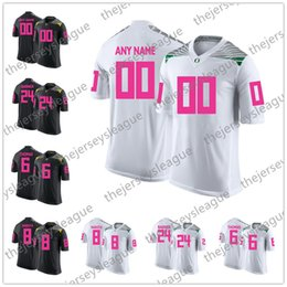 8218ca959 Custom Oregon Ducks Mother Days Pink White Black Stitched Any Name Any  Number Mariota Freeman NCAA College Football Jerseys S-3XL