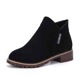 Новая мода женщин Мартин сапоги осень зима сапоги классические молнии ботильоны Grind песчаные теплые плюшевые Женская обувь