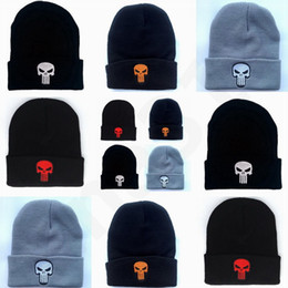 9ddae863426 Men head cap online shopping - HOT Punishing The head of a ghost Skull  Knitted Hat