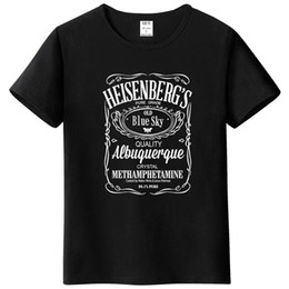 broken bad Australia - Men's T-Shirts summer 2018 printed Breaking Bad Heisenberg letter T-shirt hip hop blouse men's sportswear t shirt men harajuku