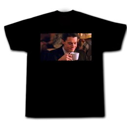 $enCountryForm.capitalKeyWord UK - Twin Peaks Agent Cooper Kyle Maclachlan Audrey Laura Palmer Cherry Pie Coffee Summer Short Sleeves Cotton T-Shirt top tee
