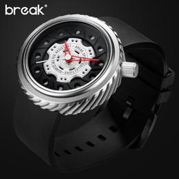 Men Sports Racing Watch Australia - BREAK Men Sport Watches Racing Motorcyle Casual Fashion Passion Waterproof Geek Creative Wristwatches Cool Rubber Strap Watches