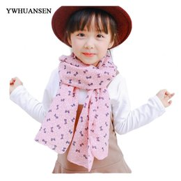cotton scarves stoles Australia - YWHUANSEN Autumn Girls Winter Sjaal Cotton and Linen Boys Winter Poncho Star Scarf For Children Cartoon Scarf Stole Dot Shawls