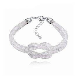 2018 New Fashion Mesh Bag Cristal Pour Femmes Bracelets Bracelets Parti Bijoux Engagement De Mariage Mariée Bijoux