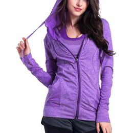 Yoga Pants Jacket UK - Women Yoga Tops Sport Hoodies Quick dry Long sleeve Sweatshirt Female Running sportswear Fitness Zipper Jacket with Hat Coat