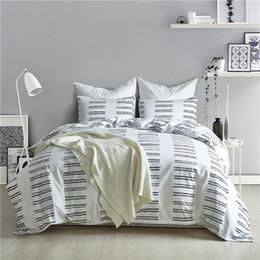 $enCountryForm.capitalKeyWord Australia - Simple Black And White Stripe Pattern Polyester Fiber 2 3pcs Pillowcase Duvet Cover Set Bedding Sets USA Twin Queen King Size