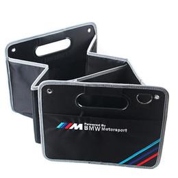 Caja del organizador del coche Tronco para BMW M Stowing Tidying Auto Accesorios Volver Caja de almacenamiento plegable Multi-Use Herramientas Organizador Portab de coche