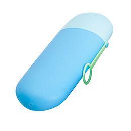 $enCountryForm.capitalKeyWord UK - Wholesale- 2016 New Arrival Blue Portable Travel Toothbrush Case Toothbrush Box Travel Kit