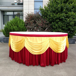 High Grade Table Skirt Meeting Wedding Celebration Banquet T Station Curtains Sign In Soft Tablecloth Hotel Supplies 100wy ff on Sale