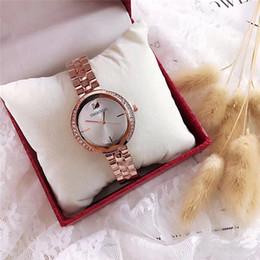 Discount quartz watches for sale - Hot sale luxury brand SW LOGO diamond womens watch QUARTZ clock luxury watches classic fashion Relogio brand watches for