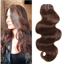 China 8A Grade Indian Body Wave Virgin Human Hair 3 Bundles Color #4 Light Chestnut Brown 100% Human Hair Body Wave Weaves 3Pcs Extensions suppliers