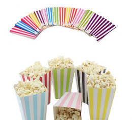 PoPcorn bags boxes online shopping - Wave Circles Pattern Folding Candy Popcorn Boxes Birthday Party Wedding Candy Sanck Favor Bags Paper Chritmas Gift Bag