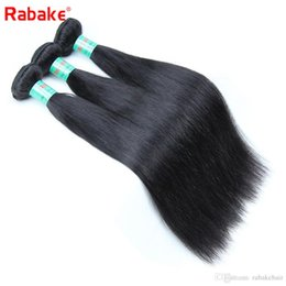 Discount silky hair extensions - Brazilian 3 or 4 Bundles Silky Straight Human Hair Weave Extensions Rabake Unprocessed Natural Black 8A Wholesale Virgin