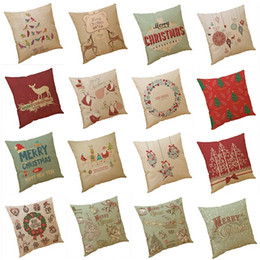 China New Christmas Gift Series Pillow Covers 18 Styles Company Promotional Advertising Gifts Can Be Printed Logo Free Customized Any Pattern supplier can companies suppliers