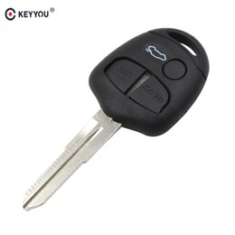 $enCountryForm.capitalKeyWord NZ - blank button KEYYOU 2x Products 3 Button Remote Key Blank With Right Blade For Mitsubishi Without Logo Free Shipping
