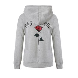 f1f37a5ca5 Frauen Active Hoodie Beste Freund Print Fleece-Sweatshirts Langarm-Tasche  Designs Warme Pullover Tops Herbst Winter