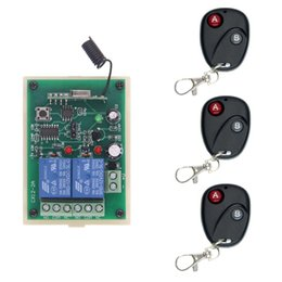rf wireless remote control system Canada - DC 12V 24V 2 CH 2CH RF Wireless Remote Control Switch System,3 X Transmitter + Receiver,315 433 MHz