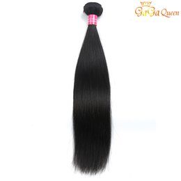 Single Hair Weave UK - Single Brazilian Straight Virgin Hair 1 Bundle 100g Straight Human Hair Extensions Brazilian Straight Hair Weave Bundles