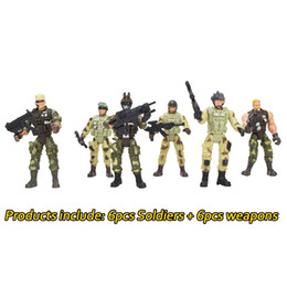 military toys for boys Canada - Removable Counter-Strike Warrior Soldiers Model Toy 360 Degree Rotation Boys Military Model Soldiers Toys for Kids Educational Toys