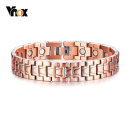 China Vnox Healthy Magnetic Power Bracelets Pure Red Copper Arthritis Pain Relief Strap Bracelet Pulsera Masculina 8.6