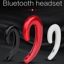 hands free mic for car 2019 - K8 wireless bluetooth headphones Business Earphone Car Hands-free Mic Bone Conduction headset No Earplugs Earbuds For ip