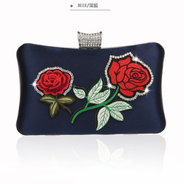 $enCountryForm.capitalKeyWord NZ - New Navy blue Women's Polyester Handbag Party Evening Bag Wallet Style Chain Handbag Clutch Banquet Mini Bag Mujer Bolso