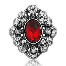 $enCountryForm.capitalKeyWord UK - New wholesale 10pcs lot many colorsRhinestone flower vintage DIY crystal watch Snap For 18mm Button bangle bracelet jewelry-B15