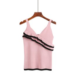 Sexy Ruched Straps Short Cami Casual Knitted Summer Tank Tops Fashion  Backless Cropped Women Crop Top aec0beffc5dc
