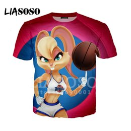 fe5e70ee7 LIASOSO 3D Print T-shirt Sexy Cute Lola Bunny playing Balls Unisex Fashion  O Neck Hispter Casual T Shirts short sleeve Tops A57