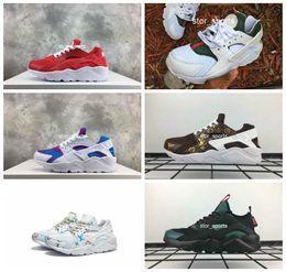 sports shoes f298e c7c3c 2018 Air Huarache Rainbow Running Shoes For Men   Women, Lightweight  Huaraches Famous Brand designer Huraches Sport Sneakers Eur 36-46