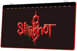 LS1354-r- Slipknot Band Rock n Roll 3D LED Luce al Neon Iscriviti Personalizza su richiesta Decor Dropshipping Wholesale 8 colori tra cui scegliere