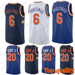 Hot New York Knicks jerseys 20 Kevin Knox 6 Kristaps Porzingis Embroidery  Logos Basketball 100% Stitched Jersey 68ca5328e