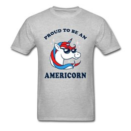 01faf8e36ab Proud To Be An Americorn Tshirt Men T Shirt Funny T-shirt America Unicorn  Tops Cotton Tees Cartoon Clothes Free Shipping