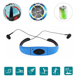 water radio NZ - Outdoor Sport Water Resist Mp3 Player With FM Radio And Memery Card Music Playing Headphones Earphone Headset For Swimming Surfing Bicycling