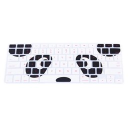 $enCountryForm.capitalKeyWord NZ - 1 Pcs US Panda Eyes Pattern Silicone Keyboard Protector Skin Protective Film Cover for Macbook 13 15 17 inch