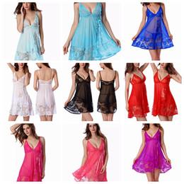 ffb19787ad00 9 Styles Sexy Women Perspective Nightwear Suit Lingerie Lace Dress Plus T-back  Sleepwear Babydoll Sleepwear Underwear Pajama Sets AAA240