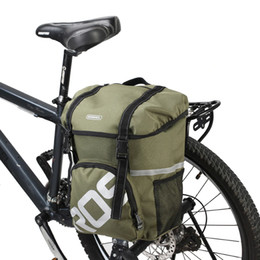 water resistant backpack 2019 - 15L Water Repellent Durable Mountain Road Bicycle Bike Bags Cycling Double Side Rear Rack Tail Seat Trunk Bags Pannier A