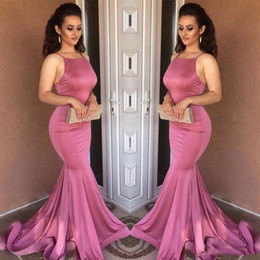 arts train Australia - Elegant Long Mermaid Prom Dresses Spaghetti Straps Sexy Backless Velvet Prom Party Dress Sweep Train Plus Size Celebrity Formal Gowns