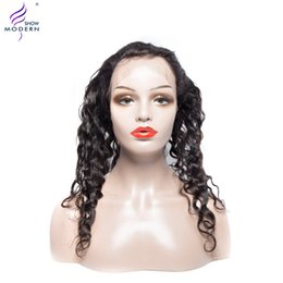 $enCountryForm.capitalKeyWord Australia - Modern Show Brazilian Virgin Hair Curly Wave 360 Lace Frontal Closure with Baby Hair Human Hair Extensions