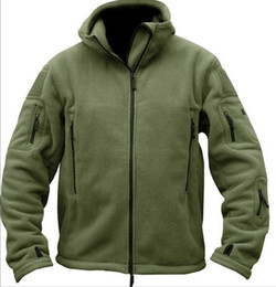 Wool Blend Military Jacket Canada - Winter Military Tactical Outdoors Softshell Fleece Jacket Men US Army Polartec Sportswear Clothes Warm Casual Hoodie Coat Jacket
