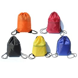 3f33f829a198 Waterproof Zipper Gym Sport Fitness Bag Foldable Backpack Drawstring  Shopping Pocket Hiking Camping Pouch Beach Swimming Bag