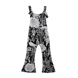 Chinese  Kids Child Baby Girls Floral Romper Jumpsuits Playsuit Trousers Long Pants Loose Casaul Girl Overall Summer Clothes 2-7T manufacturers