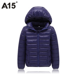 Jackets For Teens Canada - A15 Kids Winter Jacket for Girl Down Coat Children Boys Light Warm Hooded Big Teens Parka Clothes Outerwear Age 10 12 14 16 Year