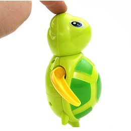 cute tortoise cartoon 2019 - Cute Cartoon Animal Tortoise classic water toys Baby Bath Toy Infant Swim Turtle Chain Clockwork Kid Educational beach b