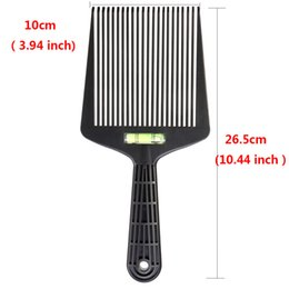 Dyeing Hair Black Australia - 1Pc Pro Salon Black Flat Wide Tooth Hair Dyeing Man Comb Barber Coloring Tinting Brush Hairstying Tool with Level Instrument