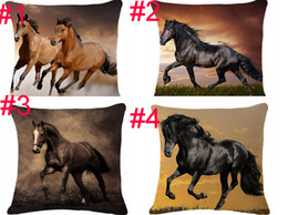 Horse pillows online shopping - Fashion European style home decor cushion pillows D animal horse printed fundas decorative throw pillowcase fashion accessories