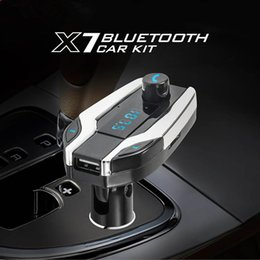 Wholesale X7 Wireless Bluetooth Car Kit MP3 Player FM Transmitter SD USB Charger for Cell Phone Best Quality