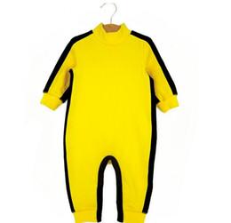 Mamelucos del bebé Ropa de los muchachos Niños recién nacidos Bruce Lee Kung Fu Romper Jumpsuit Outfit ropa infantil paño de algodón niño 4M-24M en venta